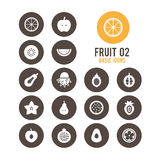 Fruit icon. Fruit sliced. Vector illustration. Royalty Free Stock Photography
