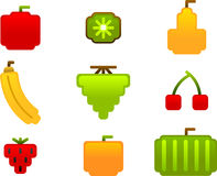 Fruit icon set. Vector illustration of fruit icon set Royalty Free Stock Image