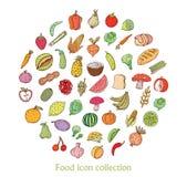 Fruit icon set. vector illustration Stock Photos