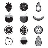 Fruit Icon Set. Stock Images