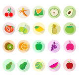 Fruit icon sets. Royalty Free Stock Image