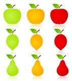Fruit icon2 Stock Photography