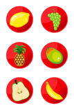 Fruit Icons Royalty Free Stock Photos