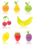 Fruit icons. Stock Photography