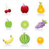 Fruit icons. Web Icons -- for your website, powerpoint, leaflet etc Stock Image