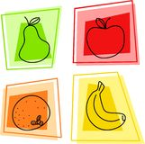 Fruit icons vector illustration