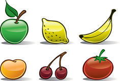 Fruit Icons Basic #2 Royalty Free Stock Photos