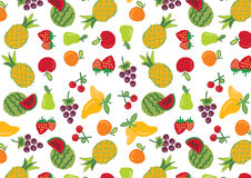 Fruit icons collection Pattern Stock Images