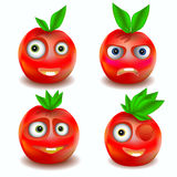 Fruit icons with emotions Royalty Free Stock Image