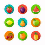 Fruit Icons Stock Photo