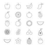 Fruit Icons Line Set Of Vector Illustration Royalty Free Stock Photo