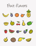 Fruit icons set Stock Image