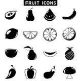 Fruit icons Stock Photography