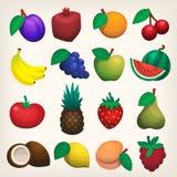 Fruit icons Royalty Free Stock Photo