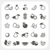 Fruit icons set Stock Images