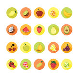 Fruit icons set. Royalty Free Stock Photography