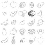 Fruit icons set Royalty Free Stock Images