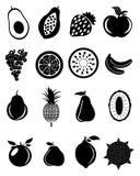 Fruit Icons Set Stock Image