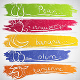 Fruit icons Royalty Free Stock Images