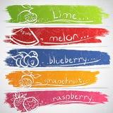 Fruit icons Stock Photo