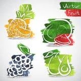 Fruit icons Stock Image