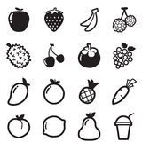 Fruit icons Vector symbol illustration Stock Photos