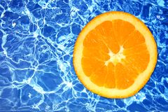 fruit icy orange sharp water Στοκ Εικόνες