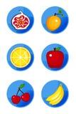 fruit ikony Obrazy Stock