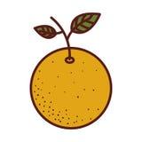 fruit ikony pomarańcze Obrazy Royalty Free