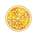 fruit ikony pomarańcze Fotografia Stock