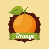 fruit ikony pomarańcze Obraz Royalty Free