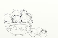 Fruit, illustration of cherries group Stock Photography