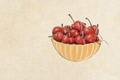 Fruit, illustration of cherries mix fruit Stock Photography