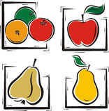 Fruit illustration series Royalty Free Stock Images