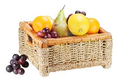 Fruit In A Basket Stock Photography