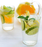Fruit infused citrus drink Stock Photos
