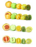 Fruit with an inscription the fresh Royalty Free Stock Photos