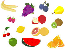 Fruit isolated on white Stock Image