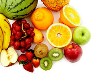 Fruit isolated on white Stock Photography