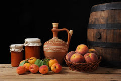 Fruit and jam Royalty Free Stock Photography