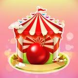 Fruit jam poster cherry Stock Image