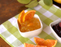 Fruit jam on table Stock Images