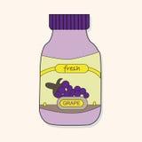 Fruit jam theme elements vector,eps Stock Photo