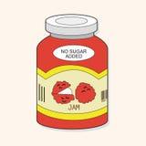 Fruit jam theme elements vector,eps Royalty Free Stock Photography