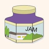 Fruit jam theme elements vector,eps Stock Images