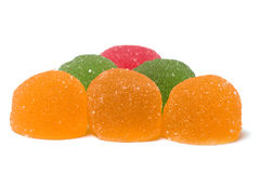 Fruit jellies. Royalty Free Stock Images