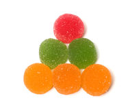 Fruit jellies. Royalty Free Stock Photo