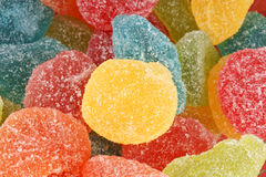Fruit jellies background Stock Photos