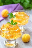 Fruit jellies with fresh apricots Royalty Free Stock Photography