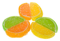 Fruit jellies isolated Stock Images